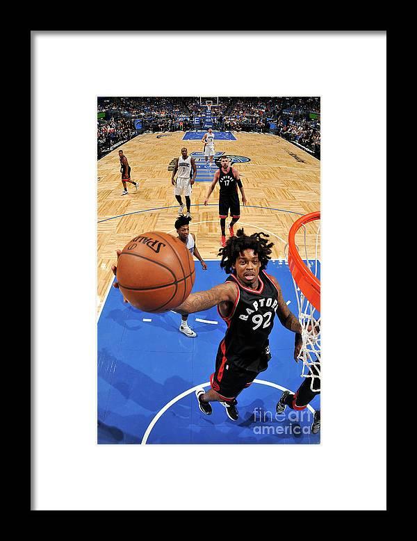 Nba Pro Basketball Framed Print featuring the photograph Lucas Nogueira by Fernando Medina