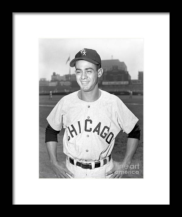 American League Baseball Framed Print featuring the photograph Luis Aparicio by Kidwiler Collection