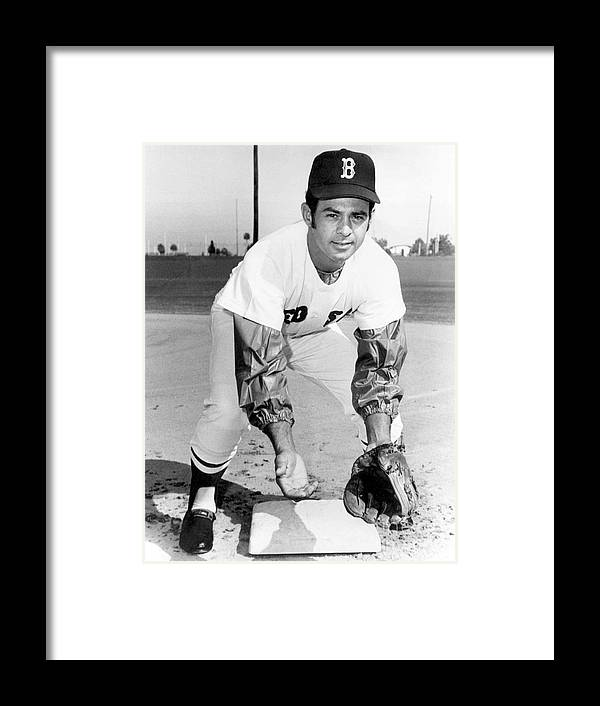 National League Baseball Framed Print featuring the photograph Luis Aparicio by National Baseball Hall Of Fame Library