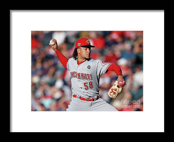 Three Quarter Length Framed Print featuring the photograph Luis Castillo by Ron Schwane