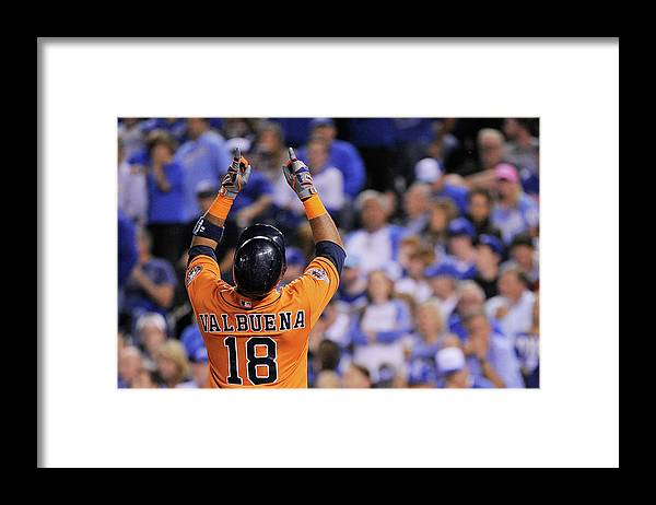 Second Inning Framed Print featuring the photograph Luis Valbuena by Ed Zurga