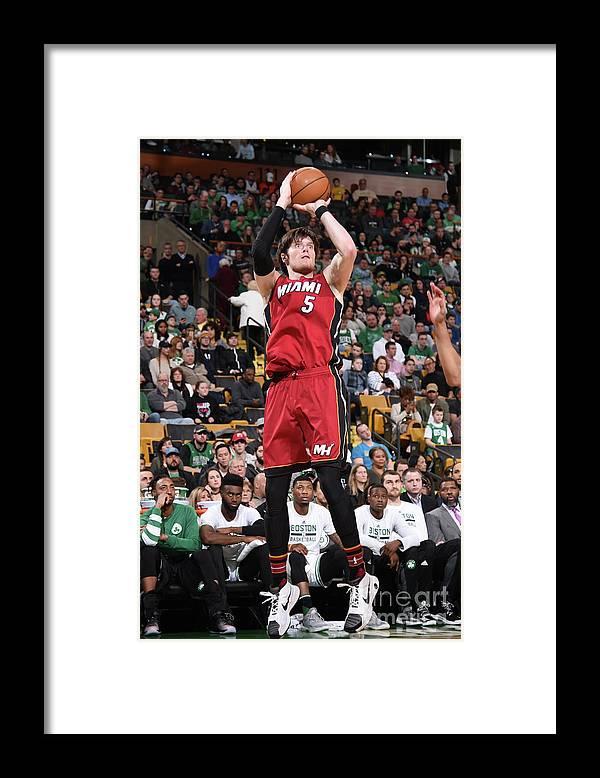Nba Pro Basketball Framed Print featuring the photograph Luke Babbitt by Brian Babineau