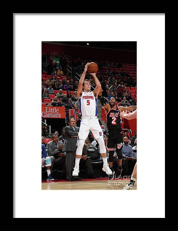 Nba Pro Basketball Framed Print featuring the photograph Luke Kennard by Chris Schwegler