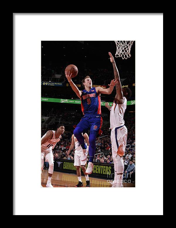 Nba Pro Basketball Framed Print featuring the photograph Luke Kennard by Michael Gonzales