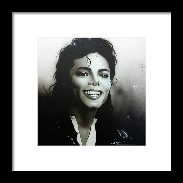 Michael Jackson Framed Print featuring the painting M. J. by Christian Chapman Art