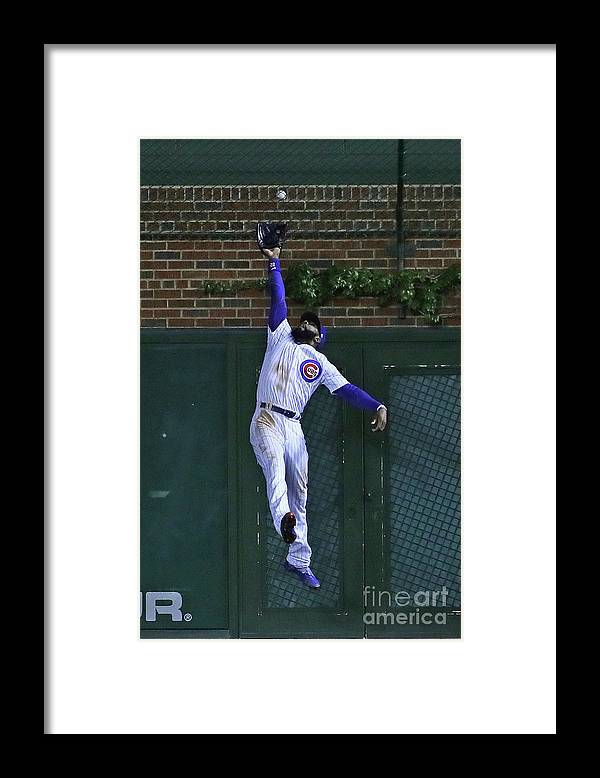 People Framed Print featuring the photograph Mac Williamson and Jason Heyward by Jonathan Daniel