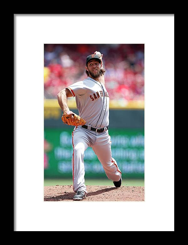Great American Ball Park Framed Print featuring the photograph Madison Bumgarner by Joe Robbins
