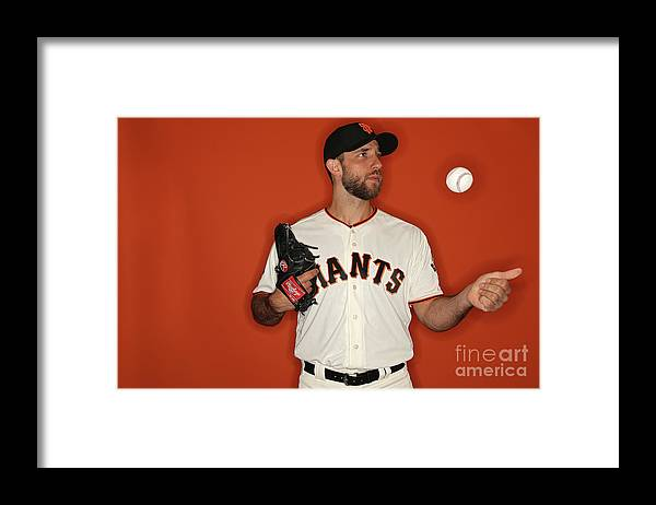 Media Day Framed Print featuring the photograph Madison Bumgarner by Patrick Smith