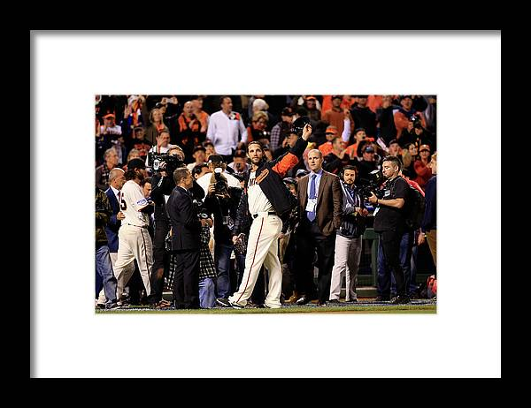 Crowd Framed Print featuring the photograph Madison Bumgarner by Rob Carr