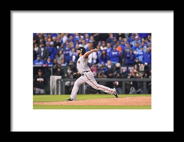Playoffs Framed Print featuring the photograph Madison Bumgarner by Rob Tringali