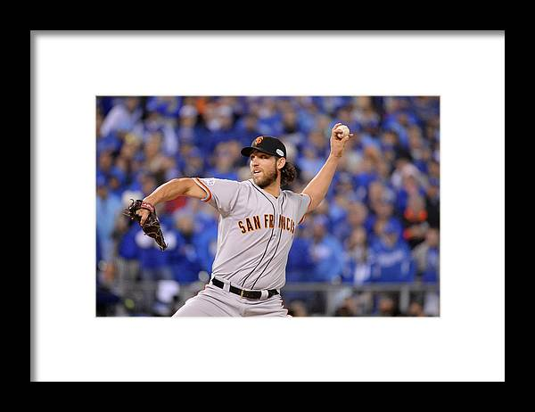 Playoffs Framed Print featuring the photograph Madison Bumgarner by Ron Vesely