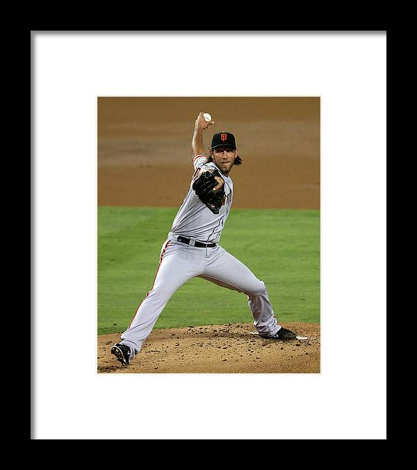 California Framed Print featuring the photograph Madison Bumgarner by Stephen Dunn