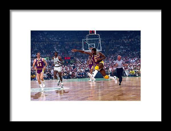 1980-1989 Framed Print featuring the photograph Magic Johnson by Dick Raphael