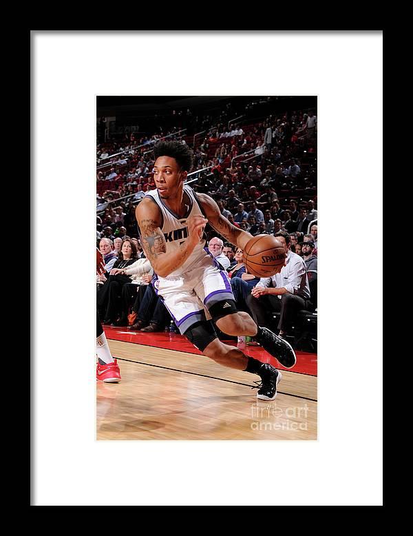 Nba Pro Basketball Framed Print featuring the photograph Malachi Richardson by Bill Baptist