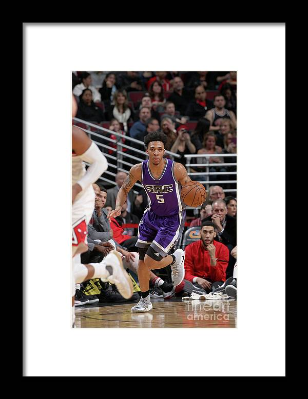 Nba Pro Basketball Framed Print featuring the photograph Malachi Richardson by Gary Dineen