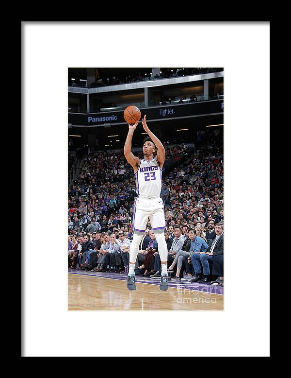 Nba Pro Basketball Framed Print featuring the photograph Malachi Richardson by Rocky Widner
