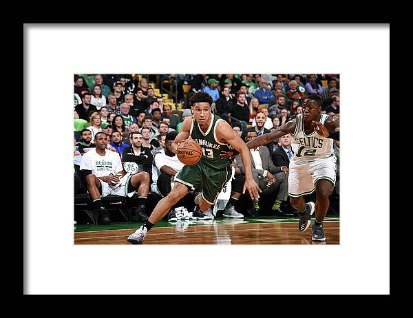 Nba Pro Basketball Framed Print featuring the photograph Malcolm Brogdon by Brian Babineau
