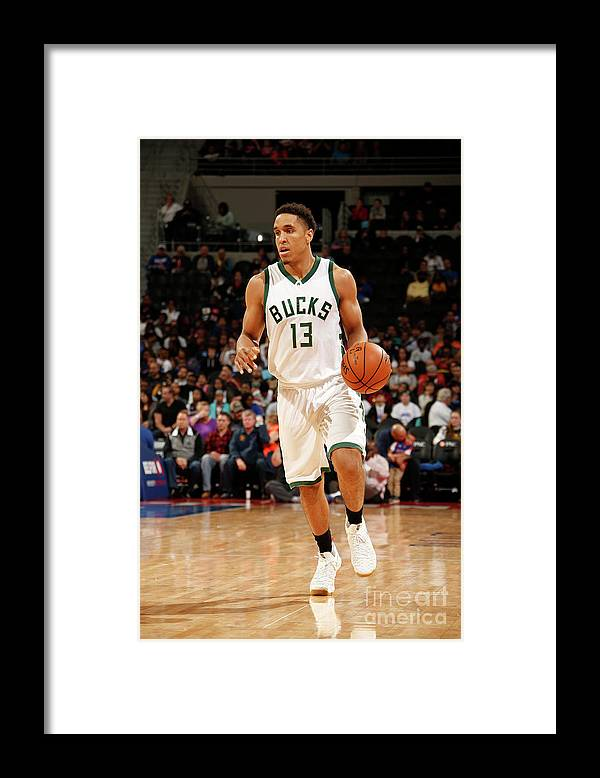 Nba Pro Basketball Framed Print featuring the photograph Malcolm Brogdon by Nba Photos