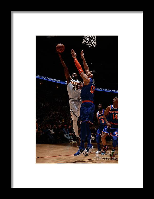 Nba Pro Basketball Framed Print featuring the photograph Malik Beasley by Bart Young