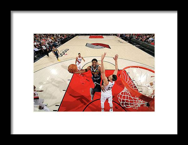 Nba Pro Basketball Framed Print featuring the photograph Malik Beasley by Cameron Browne