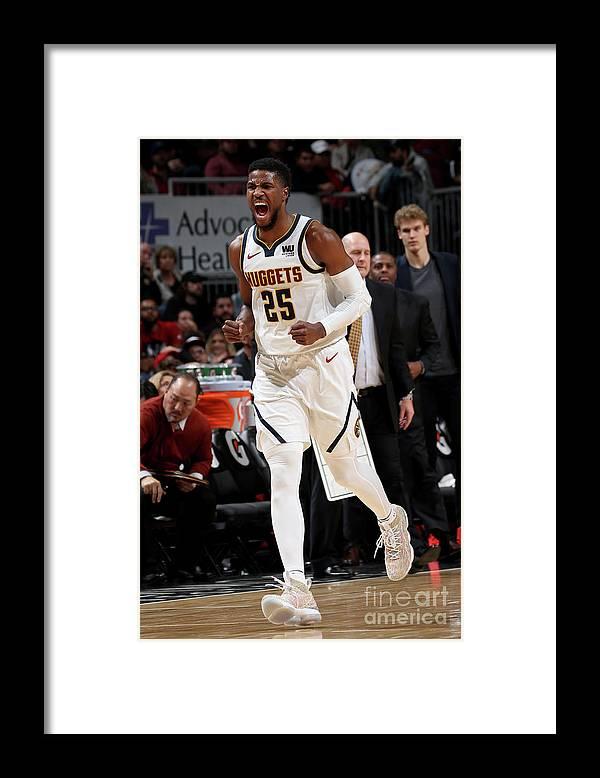 Nba Pro Basketball Framed Print featuring the photograph Malik Beasley by Gary Dineen