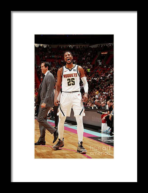 Nba Pro Basketball Framed Print featuring the photograph Malik Beasley by Issac Baldizon