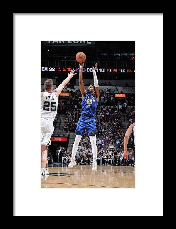 Playoffs Framed Print featuring the photograph Malik Beasley by Mark Sobhani