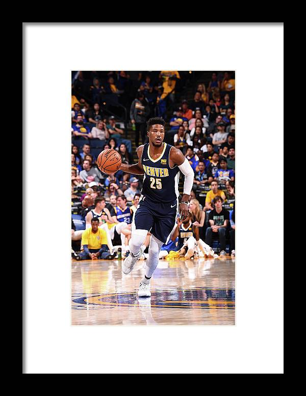 Nba Pro Basketball Framed Print featuring the photograph Malik Beasley by Noah Graham