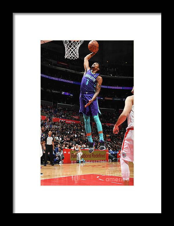 Nba Pro Basketball Framed Print featuring the photograph Malik Monk by Andrew D. Bernstein
