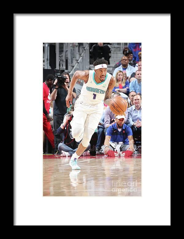 Nba Pro Basketball Framed Print featuring the photograph Malik Monk by Brian Sevald