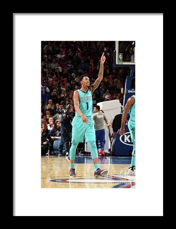 Nba Pro Basketball Framed Print featuring the photograph Malik Monk by David Dow