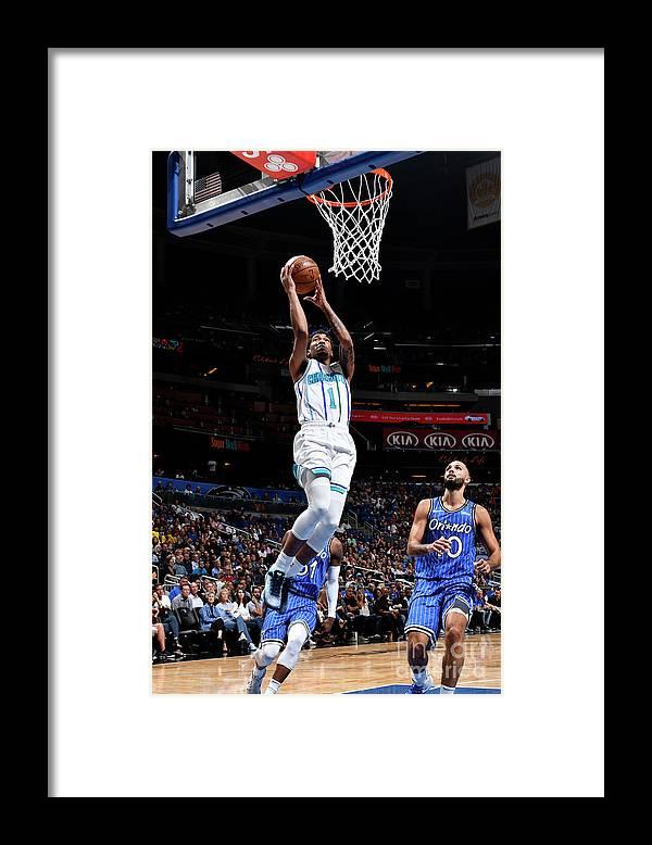 Nba Pro Basketball Framed Print featuring the photograph Malik Monk by Fernando Medina