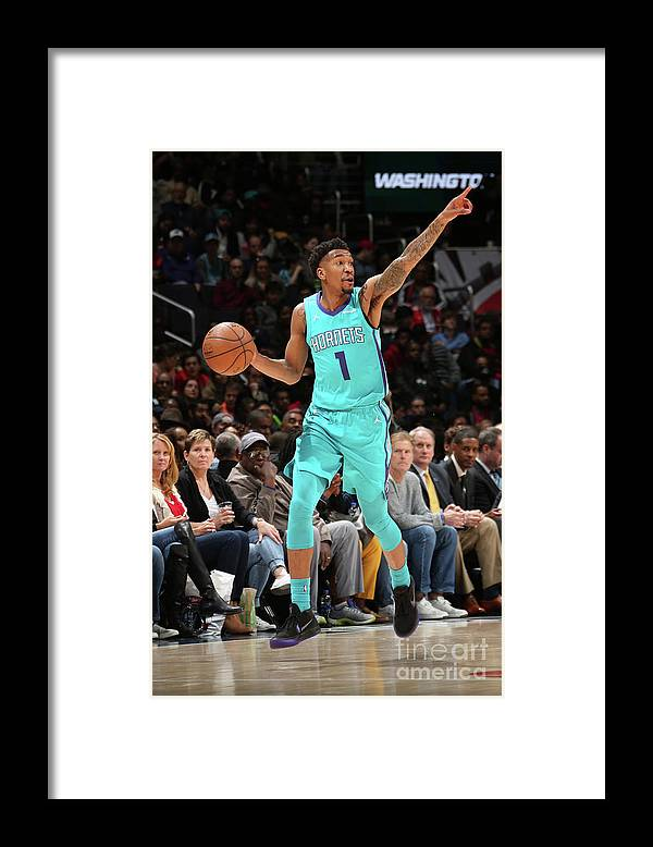Nba Pro Basketball Framed Print featuring the photograph Malik Monk by Ned Dishman