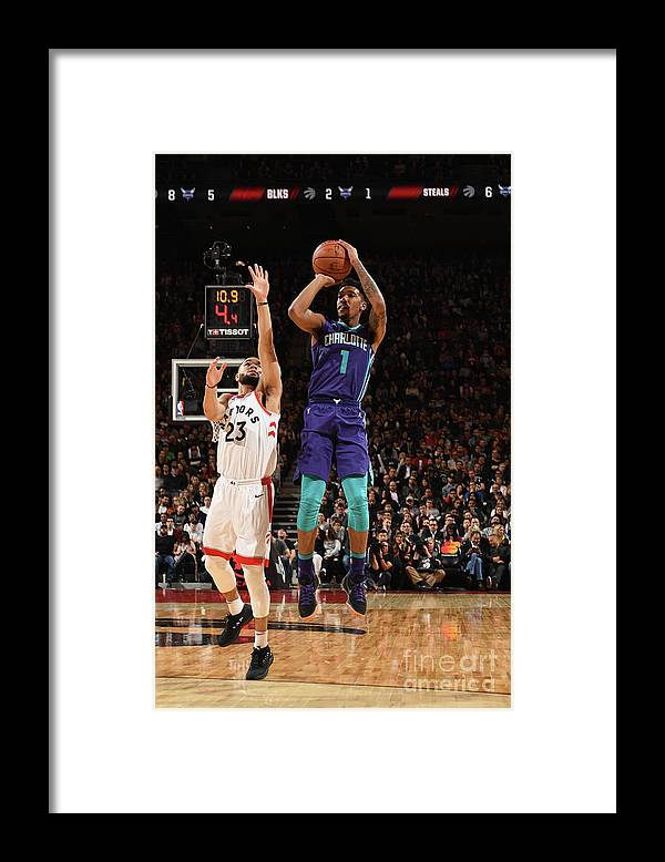 Nba Pro Basketball Framed Print featuring the photograph Malik Monk by Ron Turenne