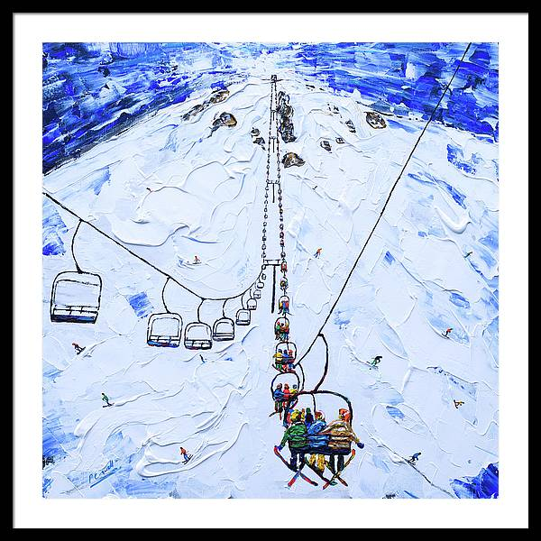 Mammoth Ski Lift Print by Pete Caswell