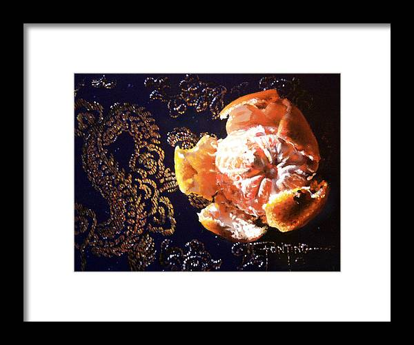 Mandarin Framed Print featuring the painting Mandarin by Dianna Ponting