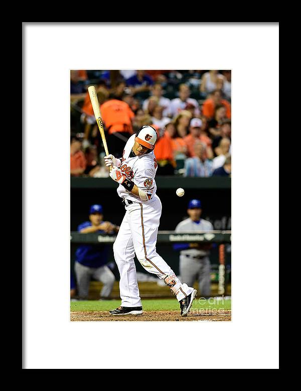 People Framed Print featuring the photograph Manny Machado and Yordano Ventura by Patrick Mcdermott