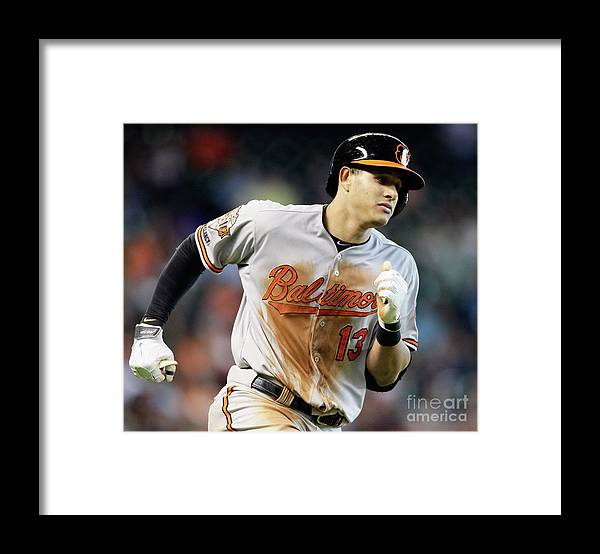 American League Baseball Framed Print featuring the photograph Manny Machado by Bob Levey