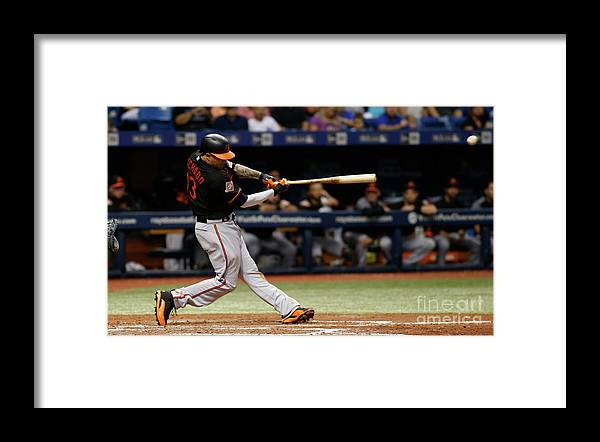 People Framed Print featuring the photograph Manny Machado by Brian Blanco