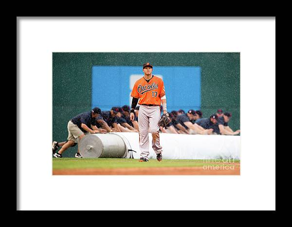People Framed Print featuring the photograph Manny Machado by Jason Miller