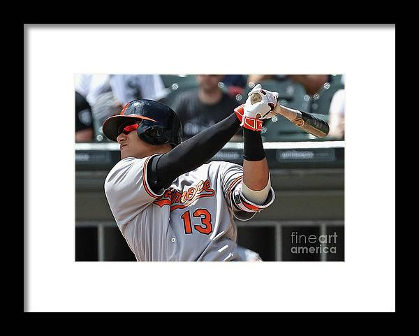 People Framed Print featuring the photograph Manny Machado by Jonathan Daniel