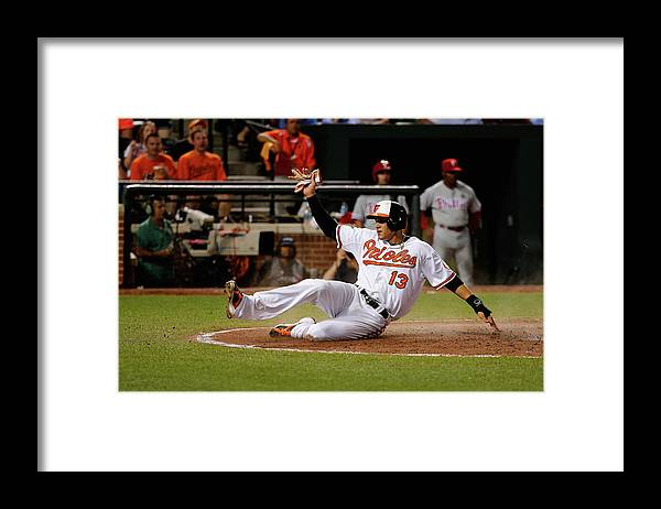 People Framed Print featuring the photograph Manny Machado by Rob Carr