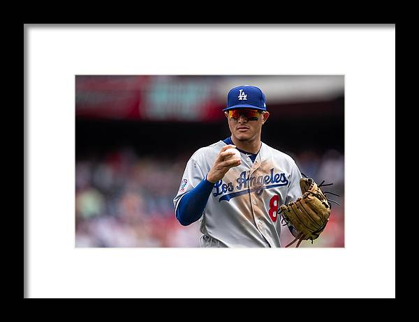 People Framed Print featuring the photograph Manny Machado by Rob Tringali/Sportschrome
