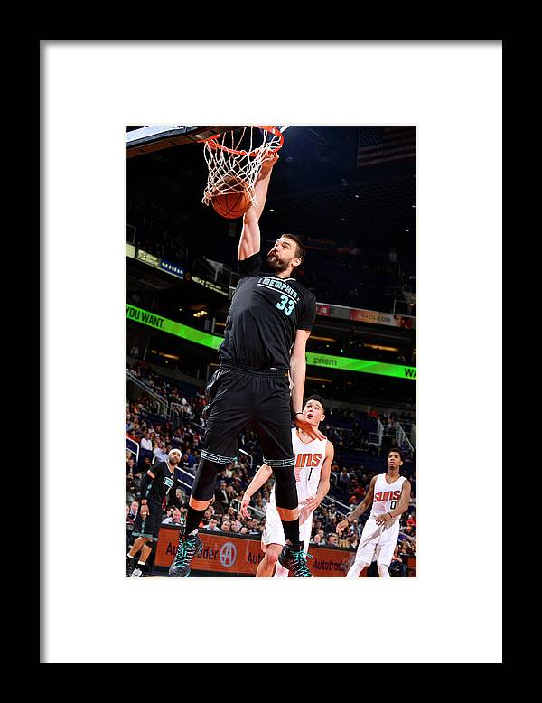 Nba Pro Basketball Framed Print featuring the photograph Marc Gasol by Barry Gossage