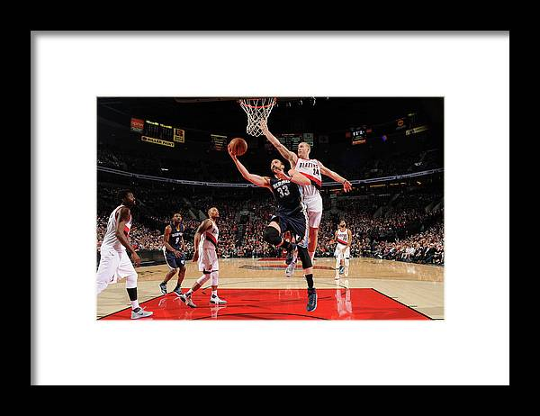 Nba Pro Basketball Framed Print featuring the photograph Marc Gasol by Cameron Browne