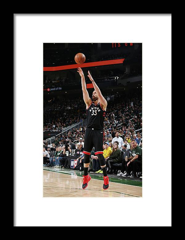 Game Two Framed Print featuring the photograph Marc Gasol by Gary Dineen
