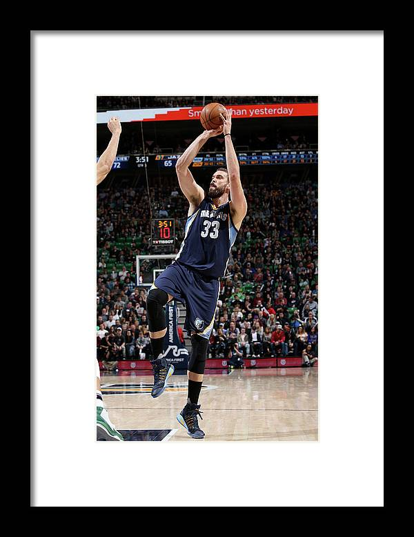 Nba Pro Basketball Framed Print featuring the photograph Marc Gasol by Melissa Majchrzak