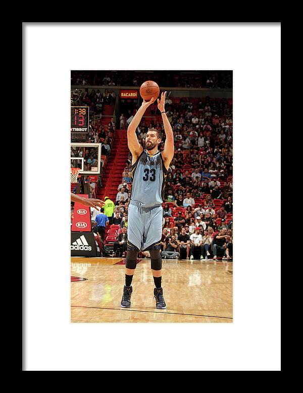 Nba Pro Basketball Framed Print featuring the photograph Marc Gasol by Oscar Baldizon
