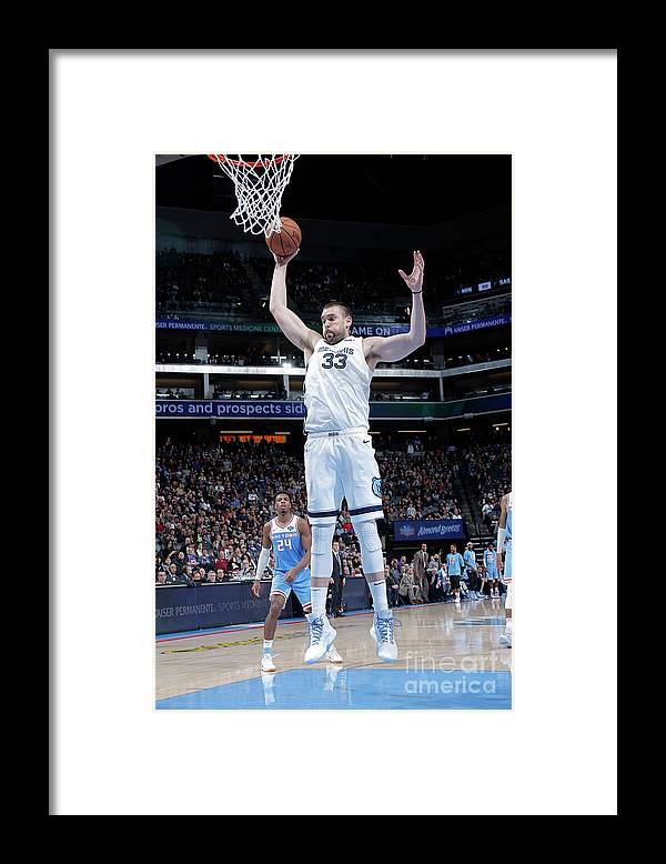 Nba Pro Basketball Framed Print featuring the photograph Marc Gasol by Rocky Widner