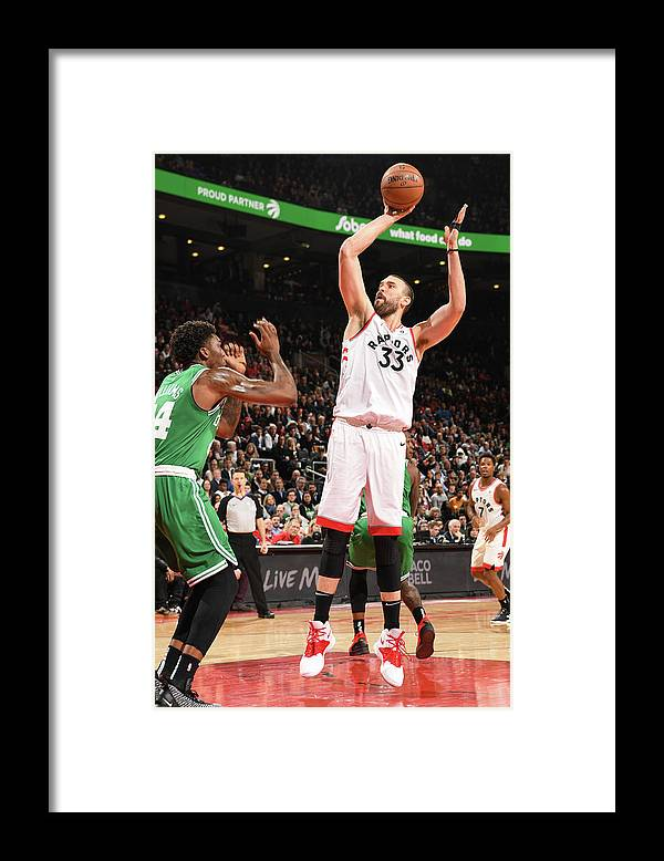 Nba Pro Basketball Framed Print featuring the photograph Marc Gasol by Ron Turenne